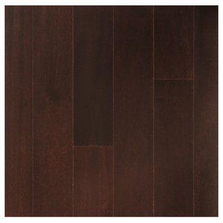 "Easoon USA 3-1/2"" Engineered Brazilian Cherry Hardwood Flooring in Espresso"