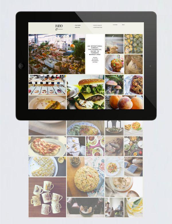 Food& by Passport , via Behance