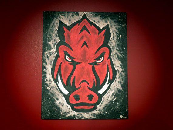 Arkansas Razorback NEW Logo by CreativiTreat on Etsy, $35.00