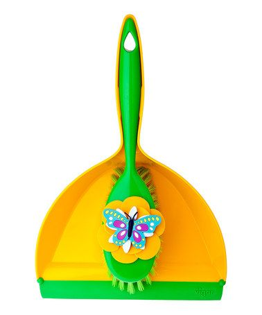 Take a look at this Yellow Dustpan & Brush by Casa Vigar on #zulily today!