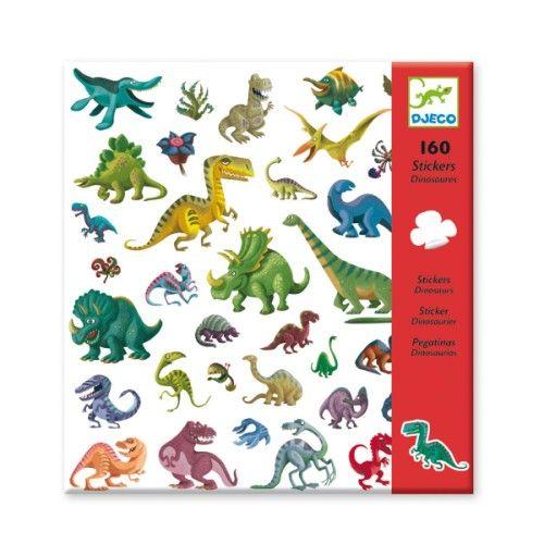 De superbes planches d'autocollants sur le thème des dinosaures pour les petits et les grands.