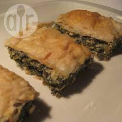 Rezeptbild: Spanakopita mit zwei Käsesorten