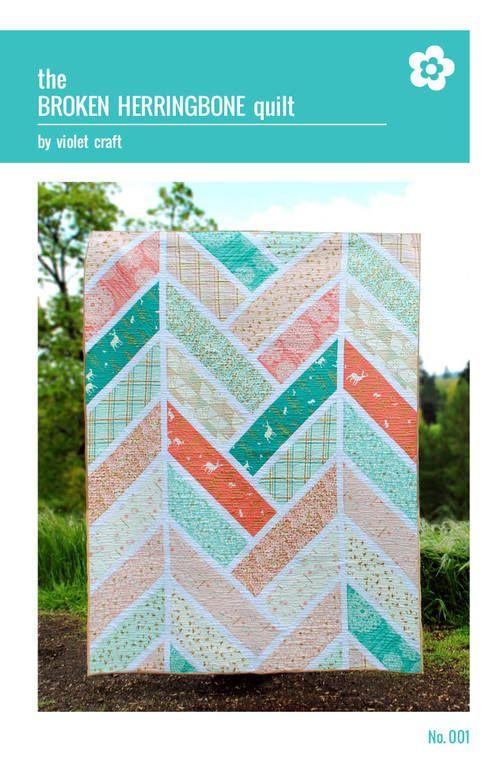 Broken Herringbone quilt pattern - PDF - $10