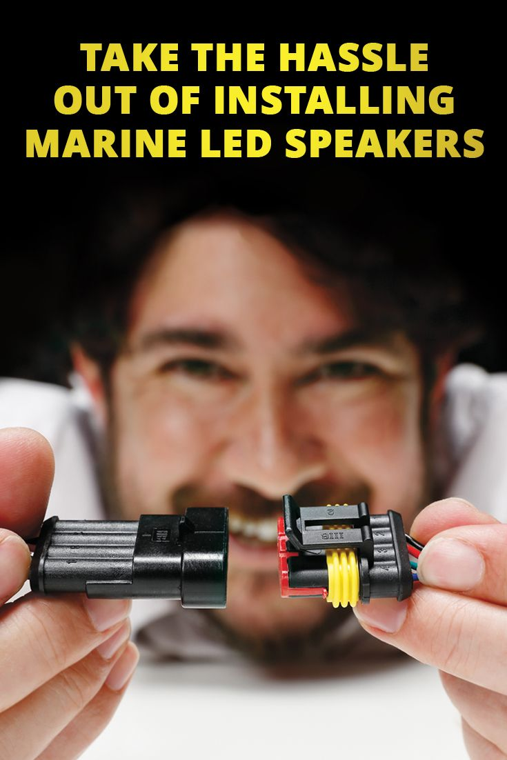 Easy Way To Wire Marine Led Speakers Boat Led Boat Speakers Marine