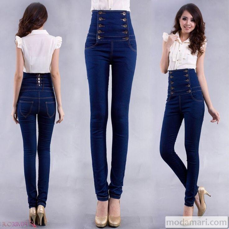 Yüksek Bel Kot Pantolon Modelleri | ModaMari