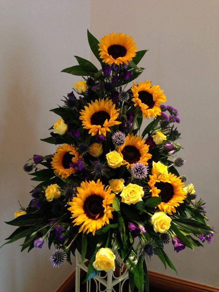 22 Best Images About Sun Flower Arrangement Ideas On