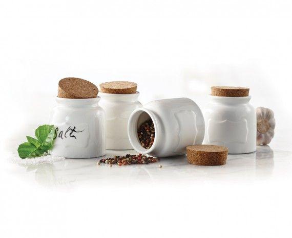 Mini pots à épices - Ens. de 4