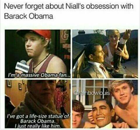 I bet when Niall meets Obama he will be like us when we meet him..-Shellbee