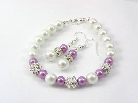 Lavender Bracelet /& Earring Set