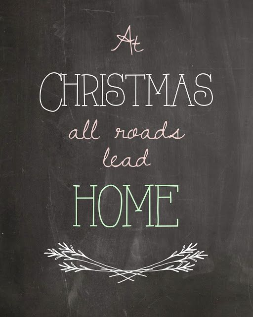 Crafty Chelsea; At Christmas All Roads Lead Home Free Christmas printable and printables from 15 other top blogs!: