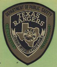 TEXAS RANGERS DEPT PUBLIC SAFETY DPS POLICE SWAT SHOULDER PATCH (Subdued)