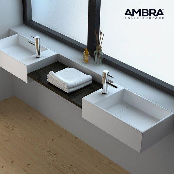 les 16 meilleures images du tableau vasques suspendues ambra sur pinterest solid surface. Black Bedroom Furniture Sets. Home Design Ideas