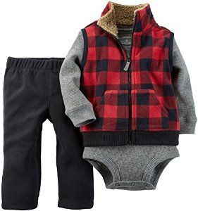 Baby Boys' 3 Piece Micro Vest Set by Carter's~ Trendy Baby Boy Clothing Here: http://thesimplychicbabyboutique.com/trendy-baby-boy-clothing/