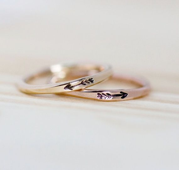 Wedding rings Ideas Arrow ring 14k Gold filled arrow ring Gold by AdorablySimpleDesign