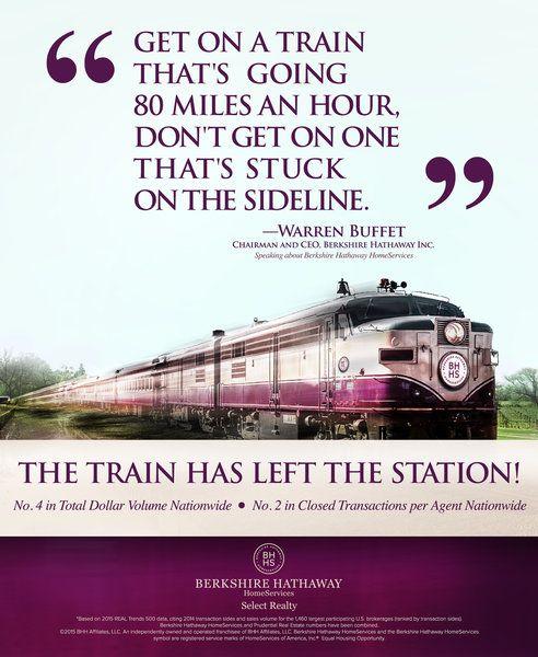 Berkshire Hathaway HomeServices - Warren Buffett  quote