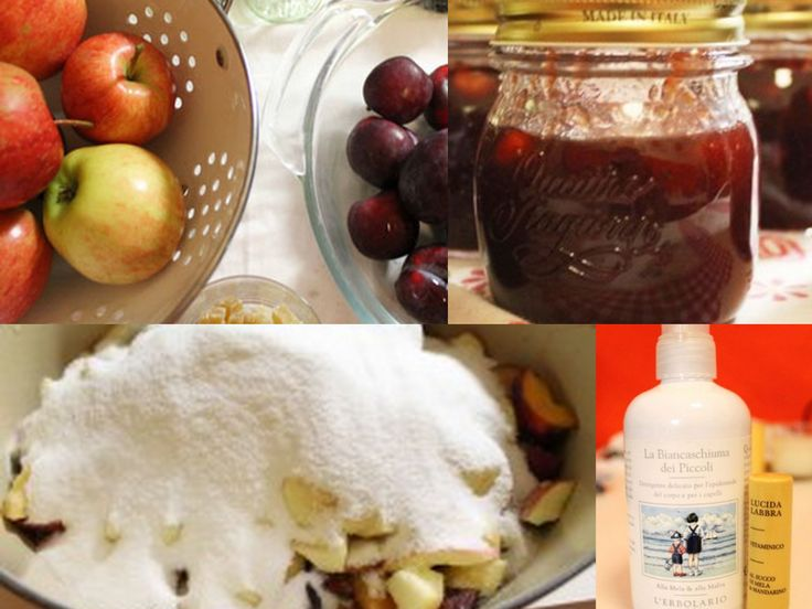 Merenda - Confettura di prugne e mela alla vaniglia e zenzero candito. Ecco la ricetta: http://www.erbolario.com/ricettevegane/ricette/21-Confettura_di_prugne_e_mela_alla_vaniglia_e_zenzero_candito Ispirata da L'Erbolario La Biancaschiuma dei Piccoli Detergente delicato per l'epidermide del corpo e per i capelli, alla Mela & alla Malva