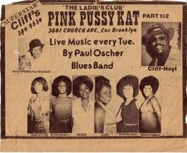AD FOR PAUL'S GIG AT THE PUSSYCAT