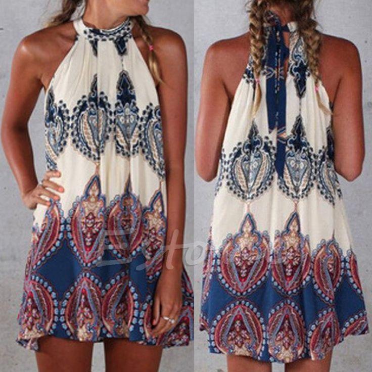 Cute Short Boho Mini Sleeveless Dress – Boho Marché