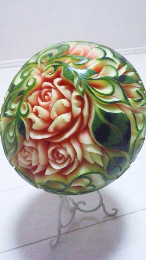 フルーツカービングfood garnish#fruit carving work