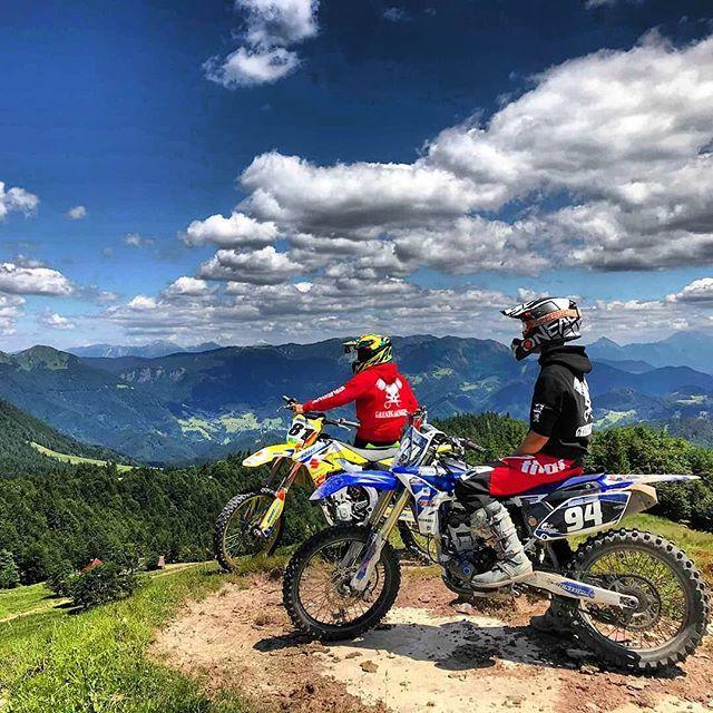 Biker Buddies With A View Enduro Motocross Enduro Motorcycle Bike Photography