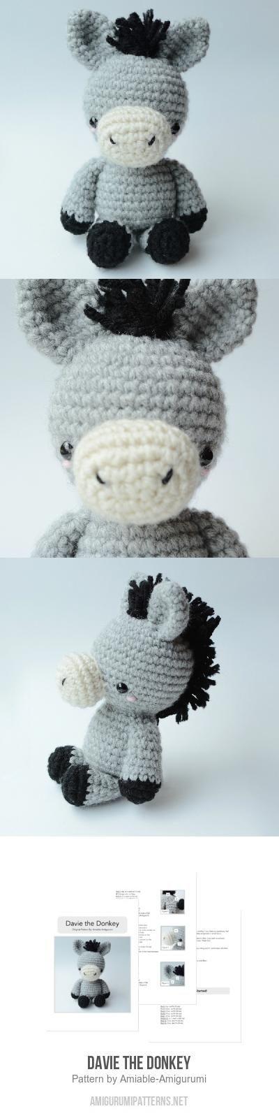 Davie The Donkey Amigurumi Pattern