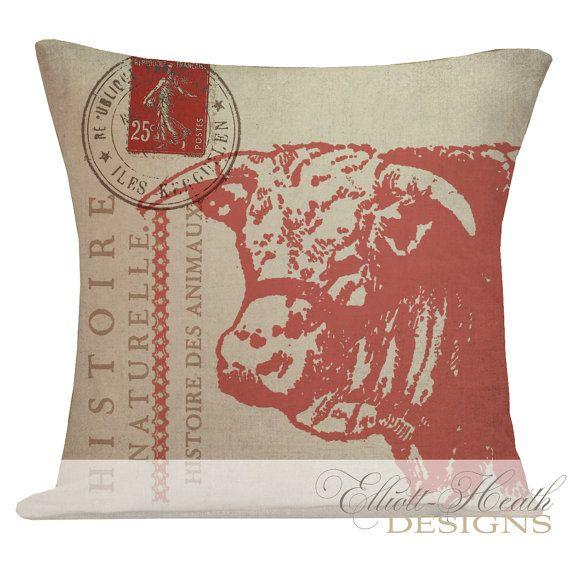 Pillow Cover French Style Farmhouse Burlap Cotton Throw Pillow French?