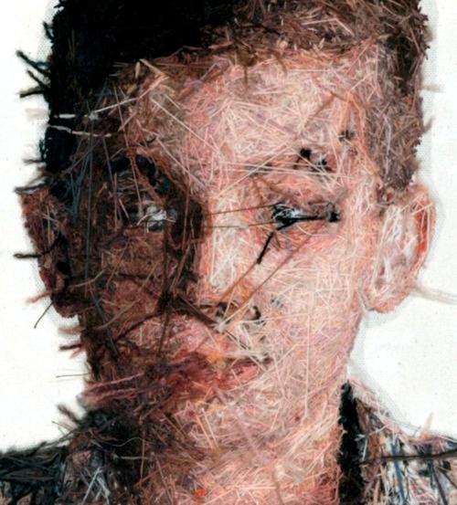 Cayce Zavaglia's hand-embroidered portraits