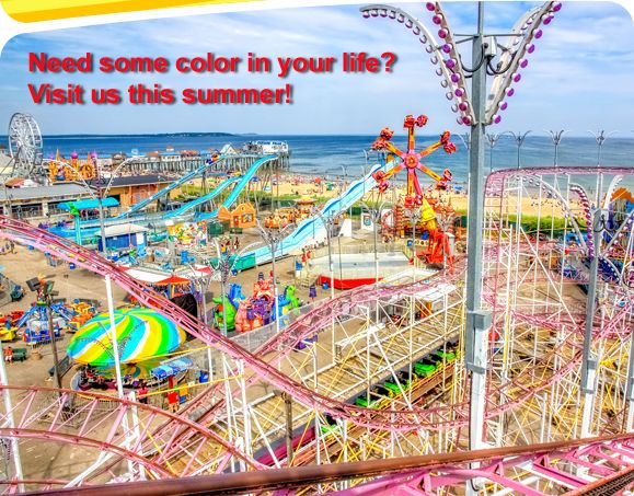 Palace Playland Amut Park In Old Orchard Beach Maine Is New England S Only Beachfront