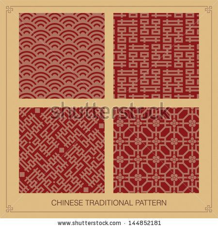 Chinese traditional pattern motif by Redberry, via ShutterStock