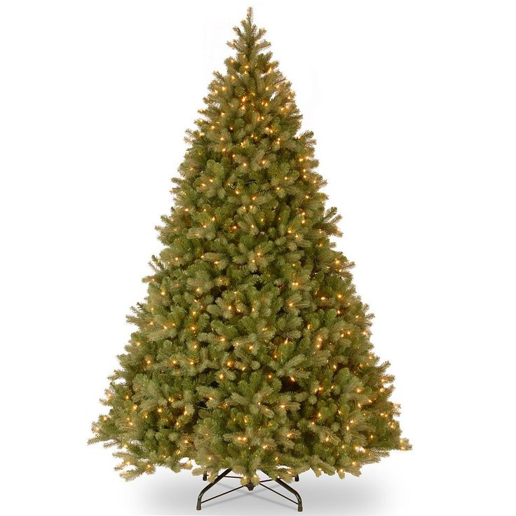 9-ft. Pre-Lit ''Feel Real'' Downswept Douglas Fir Artificial Christmas Tree, Green