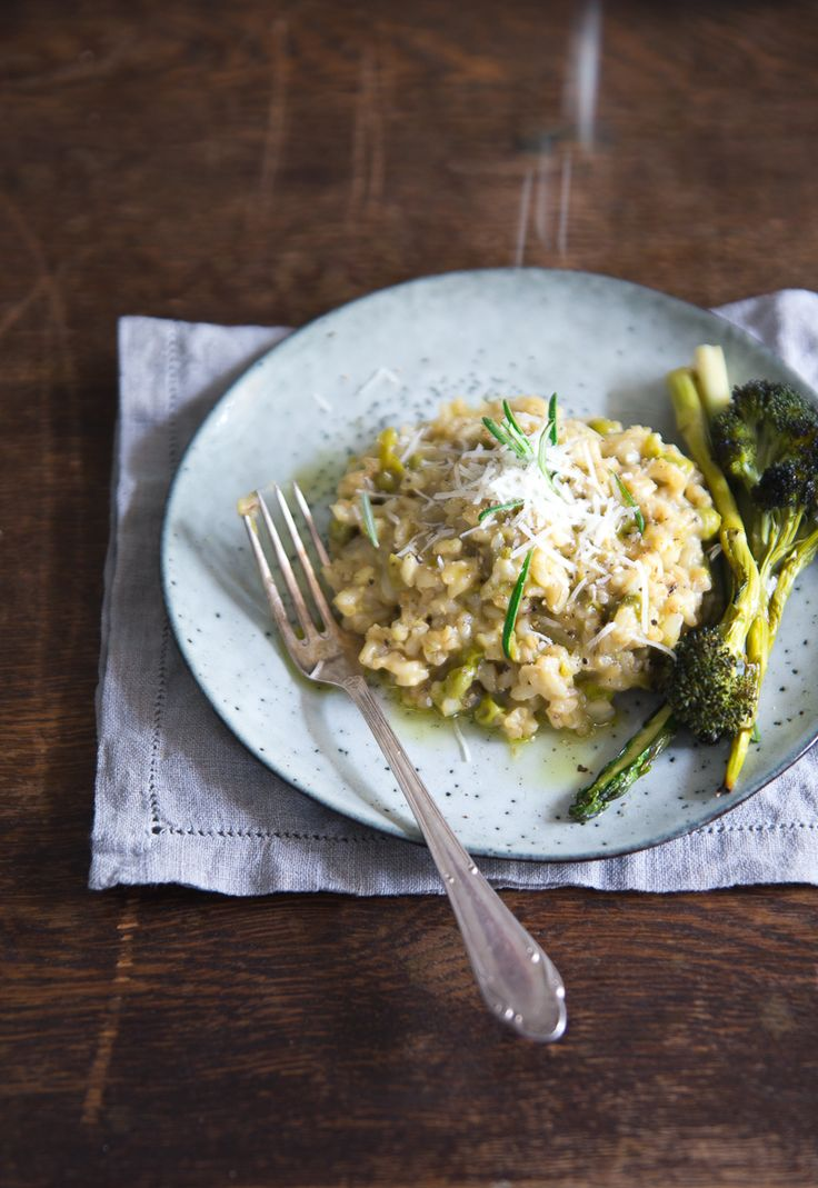 made by mary - Brown Rice Risotto with rosemary, fennel & green peas
