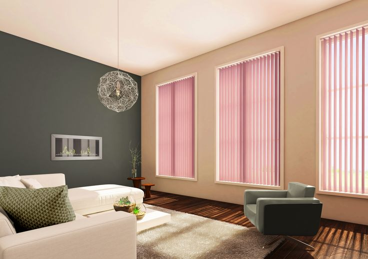 Pink Vertical Living Room Blinds from Style Studio