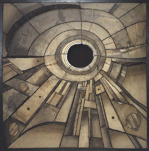 Lee Bontecou  untitled [eye sculpture]  1960  welded steel and canvas  Art Institute of Chicago