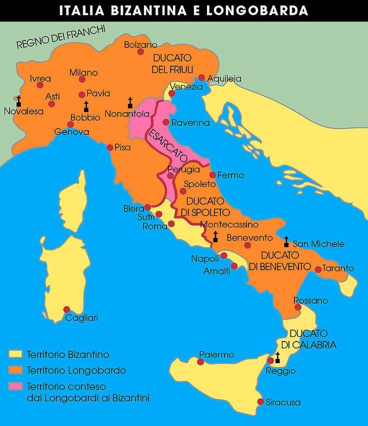 Mappa italia bizantina e longobarda - Равеннский экзархат — Википедия