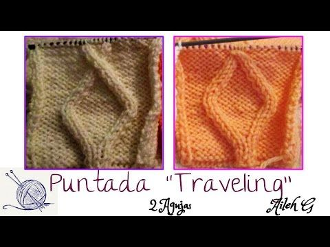 """Como Tejer Rombos """"traveling Stitch"""" con 2 Agujas 