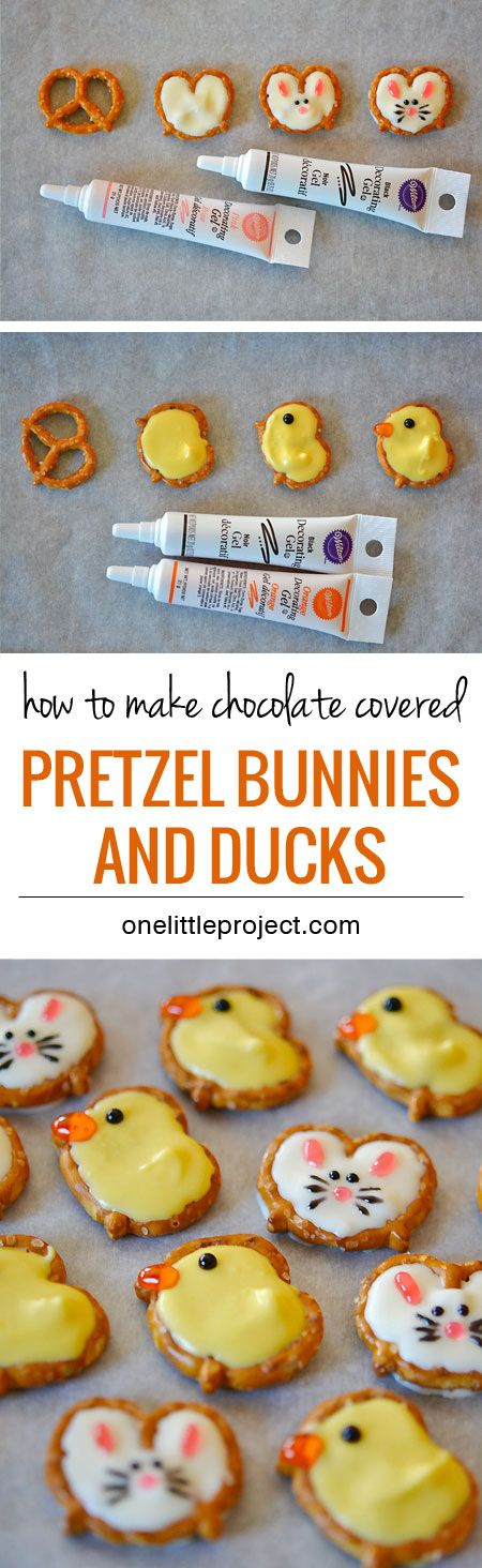 These pretzel bunnies and chicks are a cute and super easy Easter treat idea.