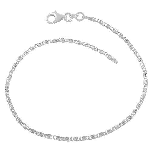 Sterling Silver 1.8-mm Tiger Eye Link Bracelet (7.5 Inch) Kooljewelry. $9.99. Comes with a comfortable lobster claw closure. Crafted in sterling silver. This sterling silver bracelet makes a great gift idea for any occasion. Weighs 1.9 gram(s). Save 64% Off!