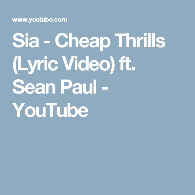 Best 25+ Sia cheap thrills lyrics ideas on Pinterest | Sia cheap ...