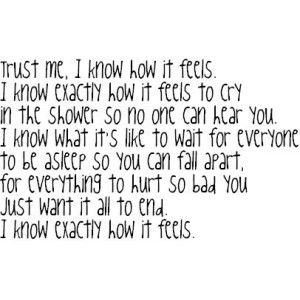 this is what i am feeling right now! i just want the world to see the stronger me not the other way around!