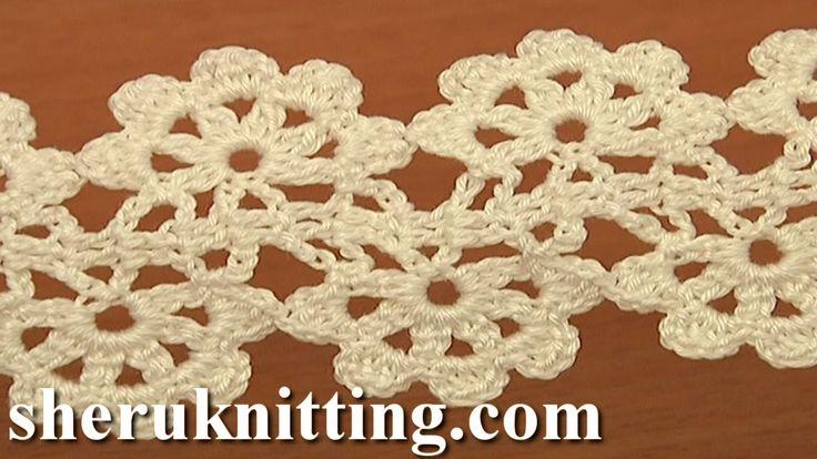 Crochet Flat Double Sided Lace Tape Tutorial 16