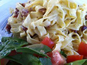 AnotherDay-AnotherMom: Recipe: Spaghetti Carbonarra with Lamb Bacon
