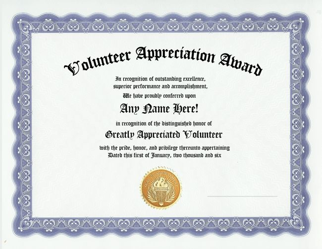 125 best images about volunteer recognition on pinterest for Volunteer recognition certificate template