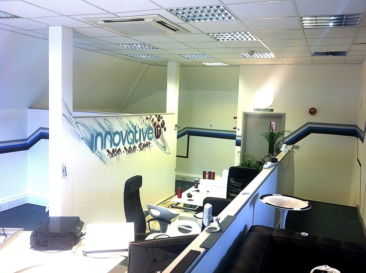 Client innovative it 39 s office corporate graffiti mural for Corporate mural