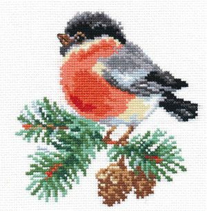 Little robin 1/2 Cross stitch free pattern and colorcode
