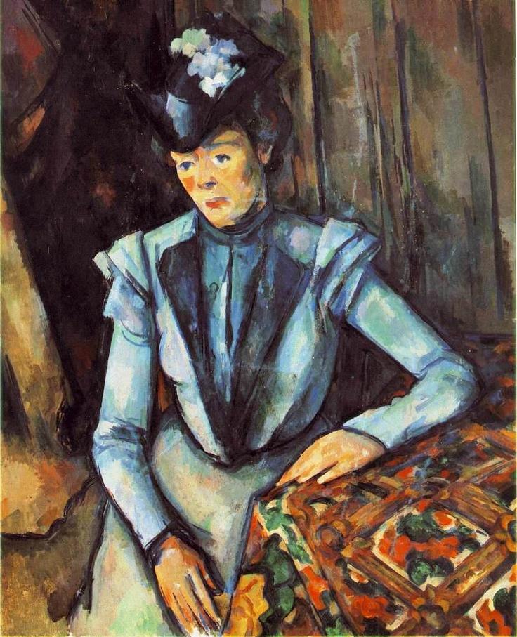 Paul Cezanne, Woman Seated in Blue, c. 1902-06