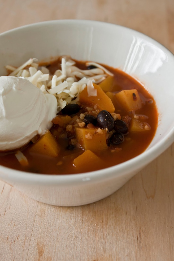 Black bean chili with butternut squash | Food and recipes | Pinterest