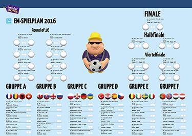 EM 2016 Spielplan powered by Holiday Extras. Möge die Europameisterschaft 2016 beginnen