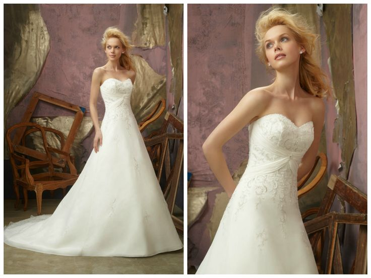 Slim A-line Gown With Beaded Sweetheart Neckline And