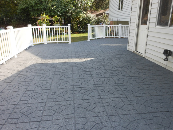 These flooring tiles used to be car tires! A great option