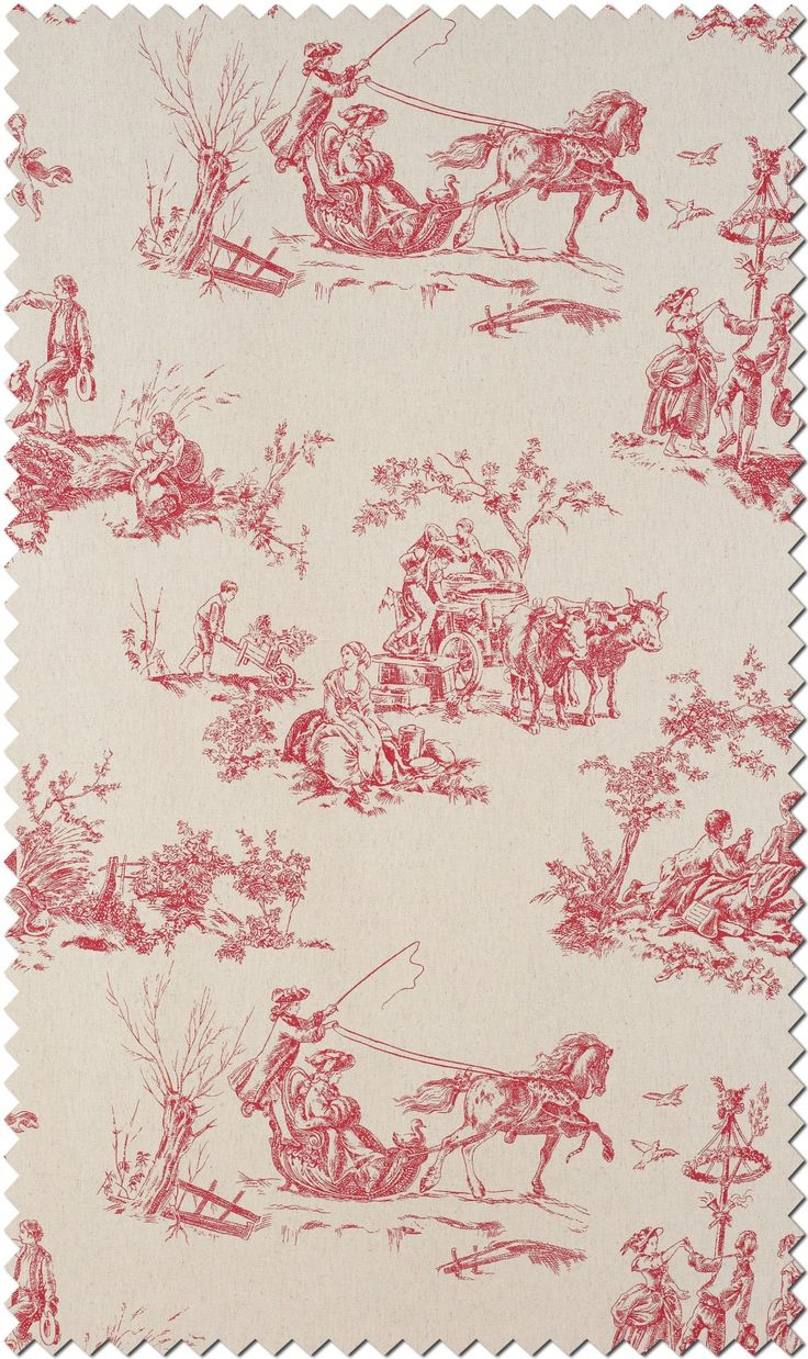 Toile de Jouy fabric collection of Casadeco Amboise.